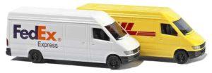 8304 Busch Mercedes Sprinted Delivery Vans